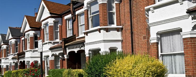 Row of Edwardian terraced houses