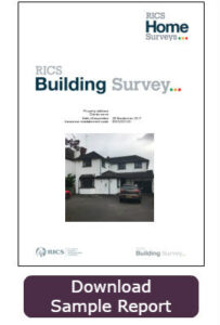 RICS Building Survey Cover sample report
